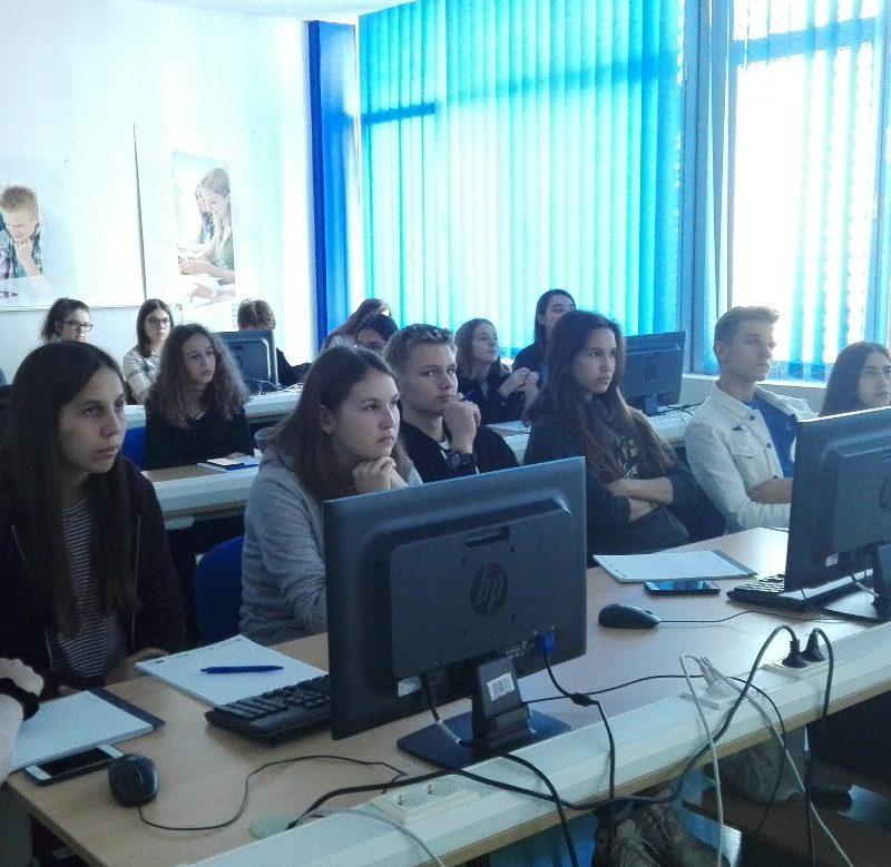 Zagreb's V. gimnazija Student visit