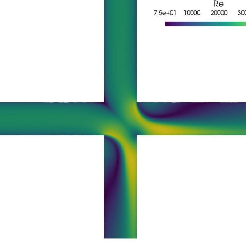 Large Eddy Simulation of turbulent fluid mixing in double-tee junctions